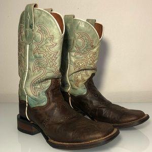 VINTAGE DAN POST women's 7.5 boots leather cowboy